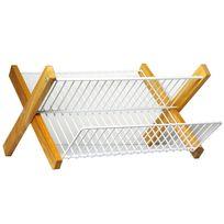 METALTEX - egouttoir pliable cadre en bois - 321845