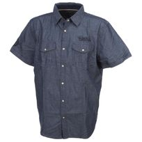 Rms26 - Chemise manches courtes Rms 26 Crunchy bleu mc shirt Bleu 52845