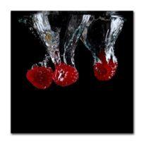 Boniday - Tableau framboises dans l'eau 30 x 30 cm