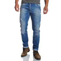 Redbridge - Jeans homme droit regular délavé et déchiré