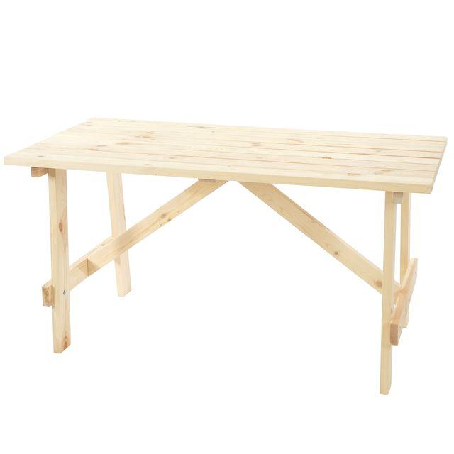 MENDLER - Table de jardin Oslo, table en bois, qualité de brasserie ...