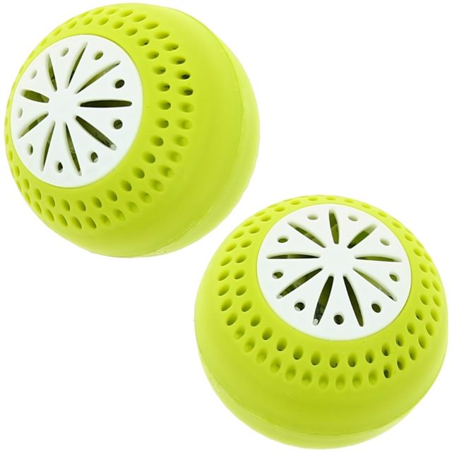 Promobo Lot 2 Boules Frigo Diffuseur Anti-odeur Désodorisant Freshball Vert