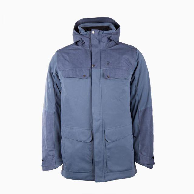 geweldige prijs hoge kwaliteit nieuwe afbeeldingen van Veste parka de ski bleue Advanced Skin Dry Homme