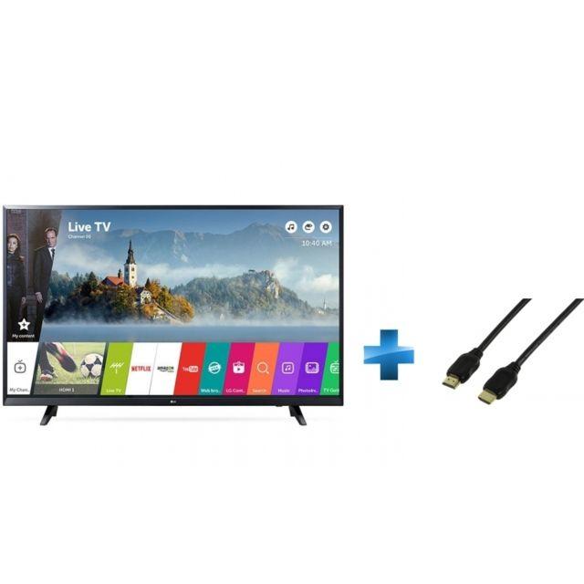TV LED 65'' - 65UJ620V + Cordon HDMI 1.4 - 1.5 mètres small