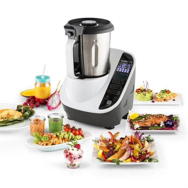 KLARSTEIN Food Circus Robot de cuisine Cuiseur vapeur 10 programmes 500/1100 W - blanc