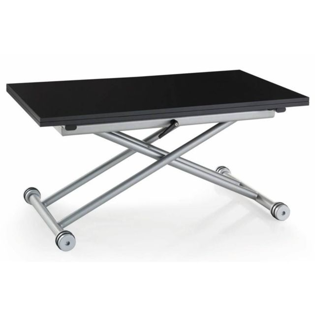 inside 75 table basse relevable extensible updown noire mate carbone petite taille compacte. Black Bedroom Furniture Sets. Home Design Ideas