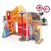 Sam Le Pompier - Smoby - 109251062002 - Jeu D'EXPLORATION -: Caserne de pompier