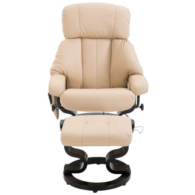 HOMCOM Fauteuil de massage relaxation chauffage electrique