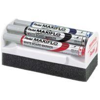 Maxiflo - brosse pour tableaux blanc + 4 marqueur
