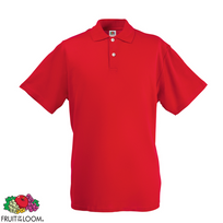 Fruit Of The Loom - Polo Homme Rouge Original Xxxl