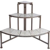 ESSCHERT DESIGN - Quart d'étagère en céramique et métal Botanicae