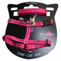 Bobby - Kit Harnais + Laisse Safe pour Chat - Fuchsia