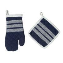TEX HOME - Set gant + manique en coton