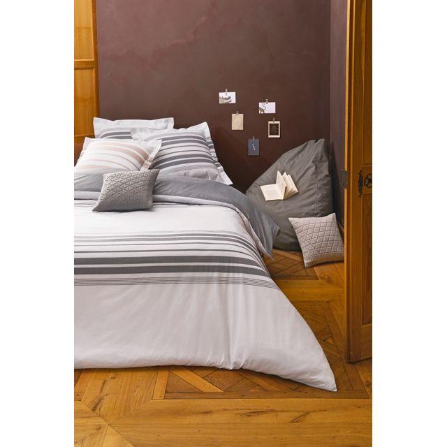tex home parure rayure matelas housse de couette 2 taies d 39 oreiller pas cher achat vente. Black Bedroom Furniture Sets. Home Design Ideas