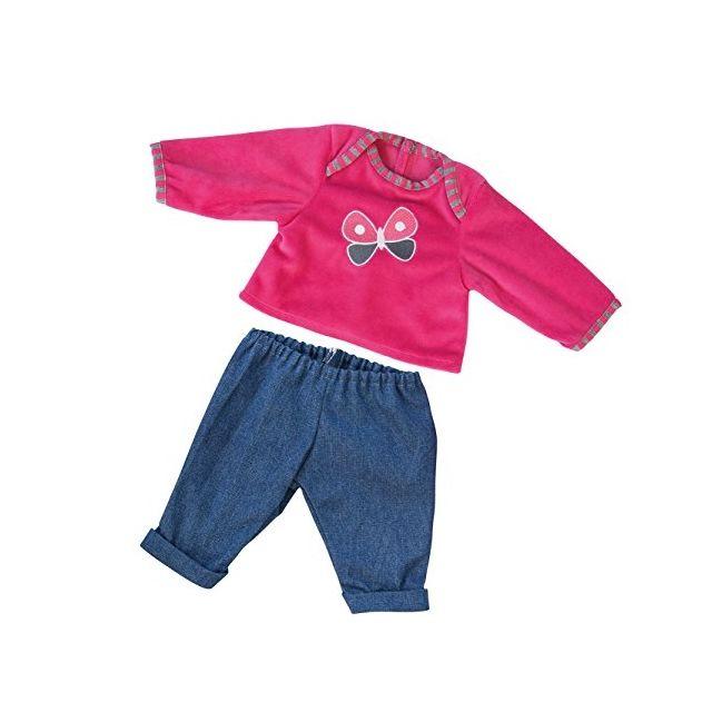 Bayer Design - 84638 - VÊTEMENT Pour PoupÉE - Habit Poupon - Ensemble  T-shirt + Pantalon Du Jean - 40-46 Cm - pas cher Achat   Vente Poupées -  RueDuCommerce 464317a1fb14
