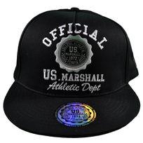 Us Marshall - En Solde Casquette Snapback - Taille Réglable - Noir Noir