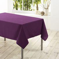 Douceur D'INTERIEUR - Nappe en polyester Prune 140 x 200 cm