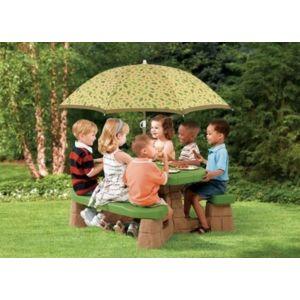 step 2 table de pique nique avec parasol enfants pas cher achat vente table de camping. Black Bedroom Furniture Sets. Home Design Ideas