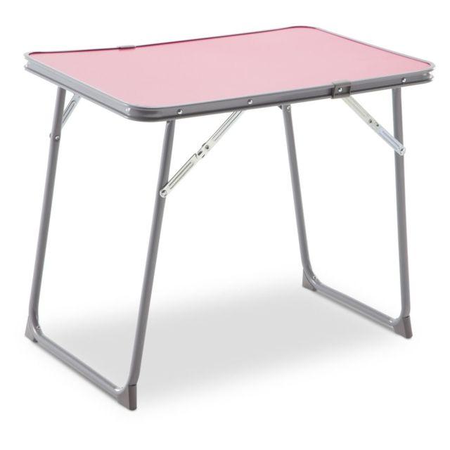 Carrefour Table Pliante Pour Enfant 60 X 40 Cm Rose Pas Cher