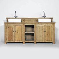 meuble salle de bain bois massif deux vasques 02 1 Résultat Supérieur 15 Élégant Meuble De Salle De Bain En Bois Galerie 2017 Kdj5