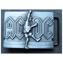 Universel - boucle de ceinture Ac-dc et guitare couleur grise hard rock
