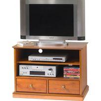 beaux meubles pas chers meuble tv hifi sur roulettes merisier louis philippe - Meuble Tv A Roulettes