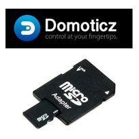 Planete Domotique - Carte Micro Sd 8Go adaptateur inclus, avec Domoticz Raspberry Pi pré-installé