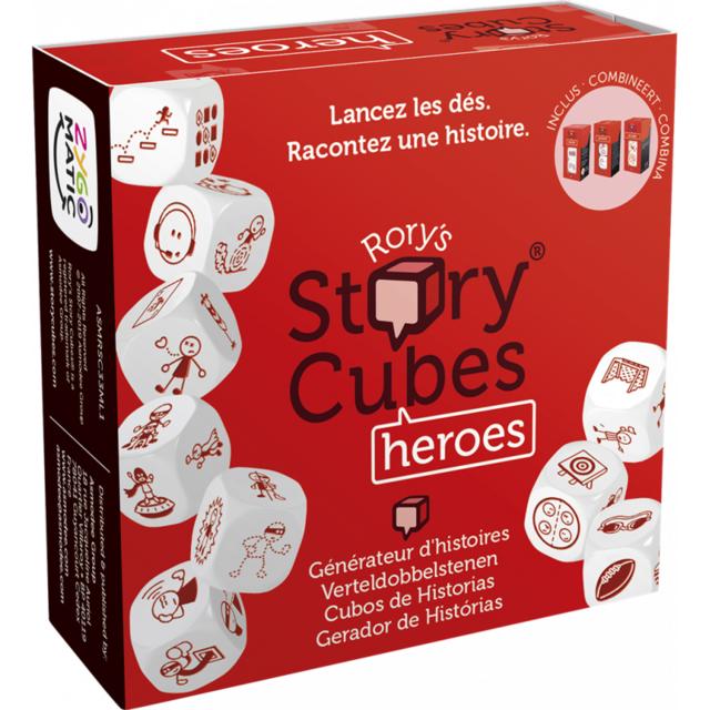 Jeu de société Story Cubes Heroes Rouge 1 joueur et + - dès 6 ans