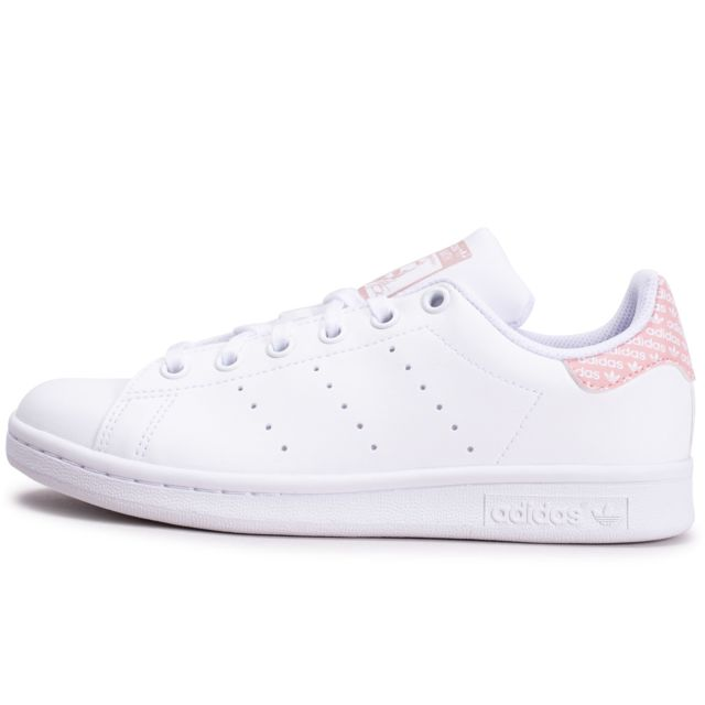 Adidas - Stan Smith Rose Et Blanche Junior - pas cher Achat ...
