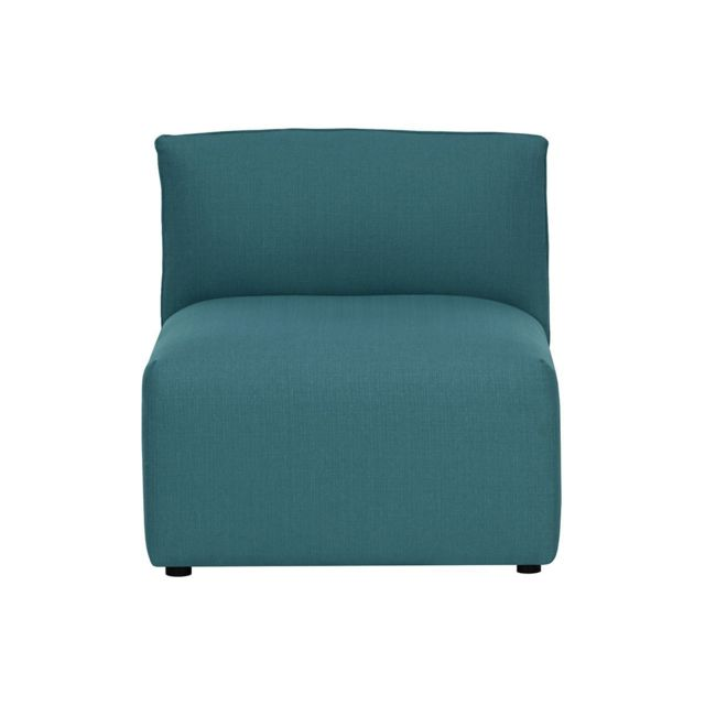 MILIBOO Chauffeuse design tissu bleu canard MODULO
