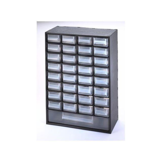 en soldes ad860 cdee3 Bloc de rangement Multibox avec 33 tiroirs 29,8x15x41,4 cm noir et  transparent