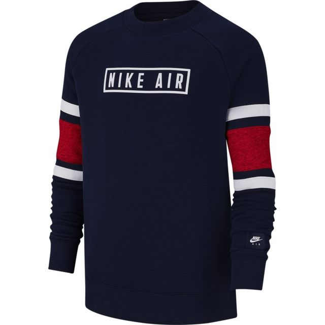 Nike Sweat Air Crew Junior Bv3591 492 pas cher Achat