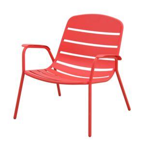 hyba optimistic fauteuil bas acier151 rouge lcaf4982 pas cher achat vente fauteuil de. Black Bedroom Furniture Sets. Home Design Ideas
