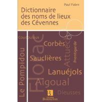 Bonneton - Dictionnaire des noms de lieux des Cévennes
