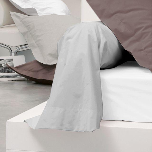 linnea taie de traversin uni 185x43 cm 100 coton alto calcium gris 185cm x 43cm pas cher. Black Bedroom Furniture Sets. Home Design Ideas