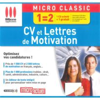 Micro Application - Cv et Lettres de motivation - Pc - Neuf