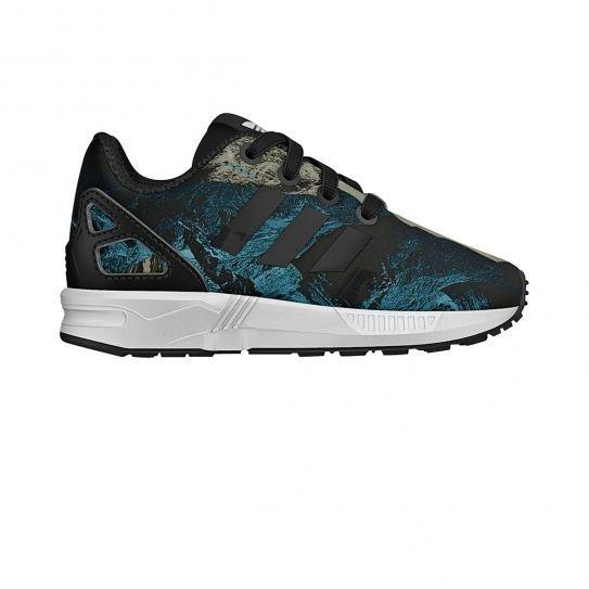 híbrido embotellamiento Huracán  Adidas originals - Chaussures Zx Flux Bebe Blue Print h15 - pas ...
