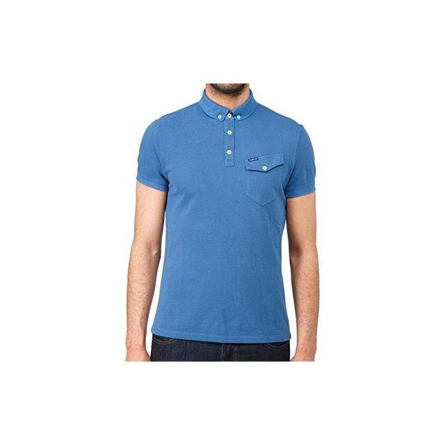 f4d662ce555 Energie - Polo Aurelian Bleu - S - pas cher Achat   Vente Polo homme -  RueDuCommerce