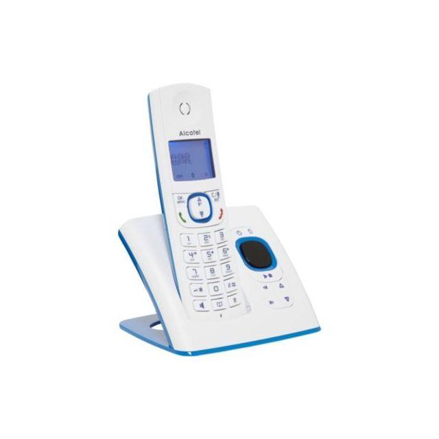Alcatel Téléphone sans fil F530 Voice Solo Bleu Annonce pré-enregistrée : Oui Coloris : Bleu Durée d'enregistrement : 14 mnFonction interphone : Non ...
