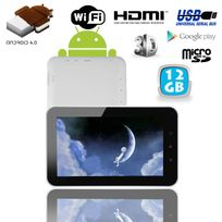 Tablette tactile Android 4.0 7 pouces capacitif 3D Hdmi 1Go Ram 12 Go