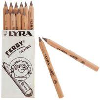 Lyra - crayon graphite ferby triangulaire 12cm - boite de 12