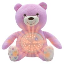 CHICCO - Ourson Projecteur Baby Bear : Rose