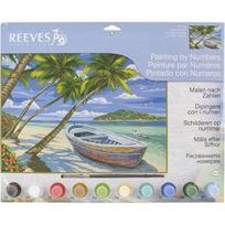 Reeves - 85499 - Peinture Par NumÉROS - Grand ModÈLE - Plage Tropicale