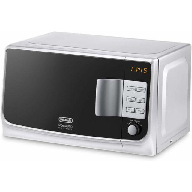 Delonghi Micro ondes combiné grill de 20L avec minuterie blanc