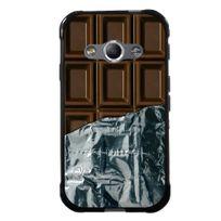 Kabiloo - Coque Souple en gel pour Samsung Galaxy Xcover-3 avec impression tablette de chocolat