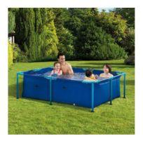 CARREFOUR - Kit piscine rectangulaire avec structure métal FIDJI - L.1,53m x l.2,14m x H.0,61m - OD66274
