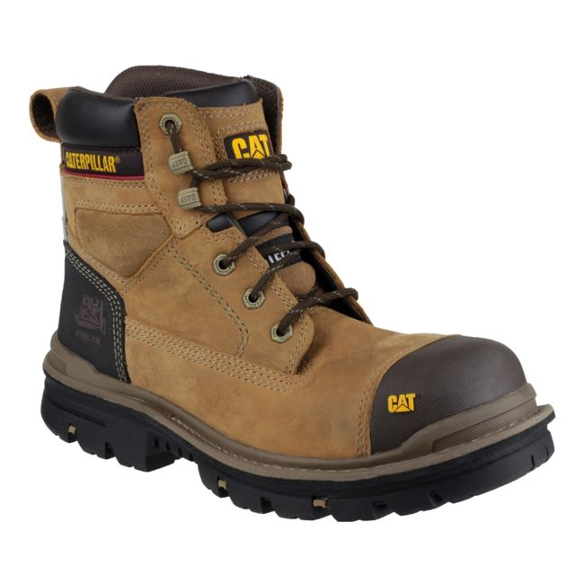 3e08c5514df949 Caterpillar - Gravel - Chaussures montantes de sécurité - Homme 40 Eur,  Beige Utfs2591 - pas cher Achat / Vente Boots homme - RueDuCommerce