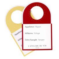 L'Atelier du Vin - Etiquettes témoins vin blanc /rouge en papier - Set de 40 Rangement