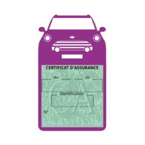 Sar-mlb - Étui simple assurance Cooper S Sport Mauve porte vignette adhésif voiture stickers auto retro