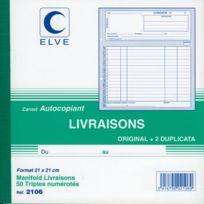 """Lebon & Vernay - manifolds autocopiants """"bon de livraison"""" ncr 21x21 50/3"""